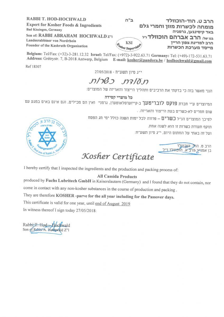 Chứng nhận Kosher